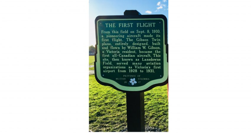 Plaque Commemorating Victoria's First Flight