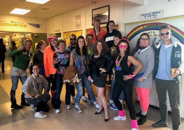 LMS Staff Enjoy 80s Theme Day